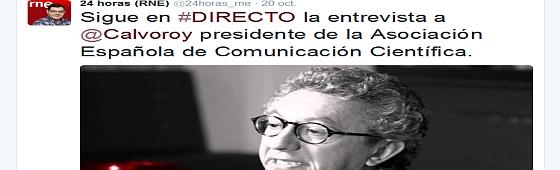 Antonio Calvo, protagonista de varias entrevistas sobre la comunicación de la ciencia