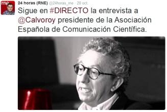 Antonio Calvo en RNE