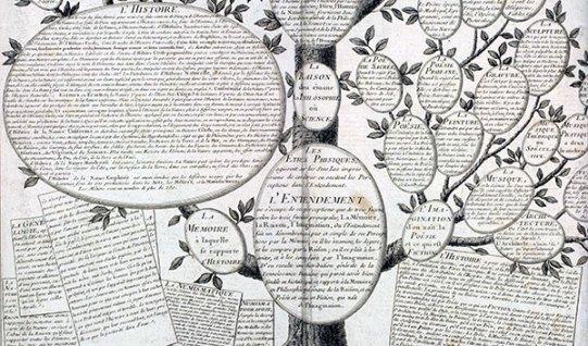 Árbol del conocimiento según la enciclopedia de Direrot y d'Alembert