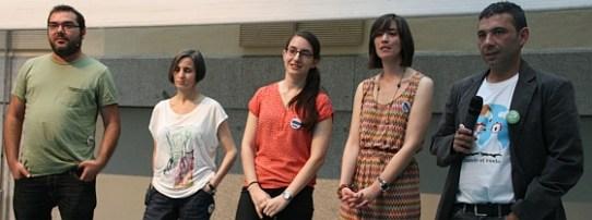 Diez Minutos de Fama en Ciencia en Redes 2015: Ricardo Domínguez, Pilar Perla, Manuela Perez, Ángela Monasor y Pedro Cáceres. Fotos: Patricia Medrano / AECC