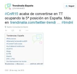 Ciencia en Redes 2015 fue trending topic en España.
