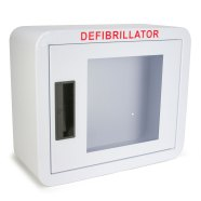Premium Rounded Corner Compact Size AED Wall Cabinet