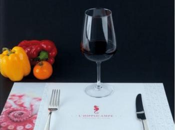 Set de table imprimé hotel et restaurant