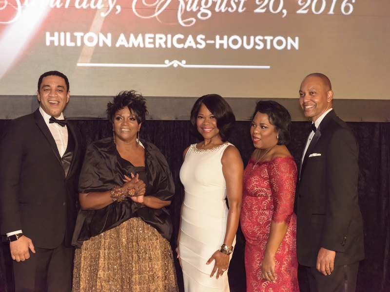 Photo by Jonathan St. Mary Ensemble Theatre gala, 8/16, Anna Maria Horsford, Mayor Sylvester Turner, Mildred Bright