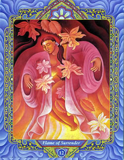 Triple Goddess Tarot - 12 : Flame of Surrender
