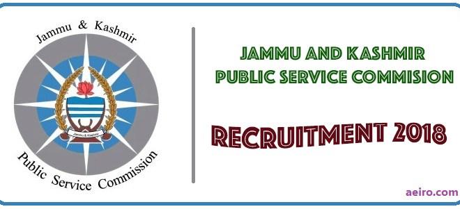 JKPSC Recruitment 2018 | Professor | Associate Professor | Assistant Professor and more..