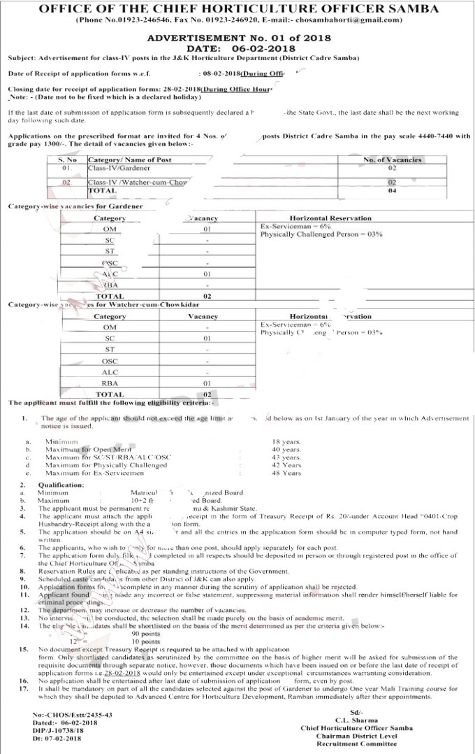wsi imageoptim class iv job copy Recruitment in Horticulture Department - Government of Jammu and Kashmir