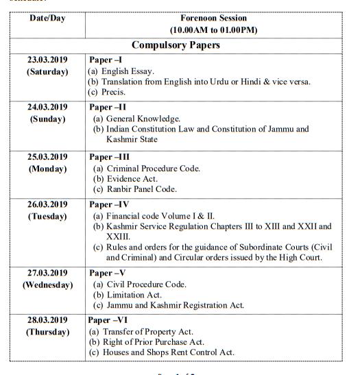 Capture1 1 JKPSC: Date Sheet for J&K Civil Services (Judicial) [Mains] Examination 2018