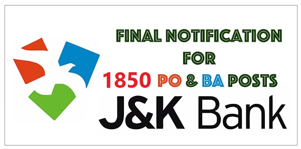 JK Bank Mega Recruitment | 1850 New Posts | Details Here