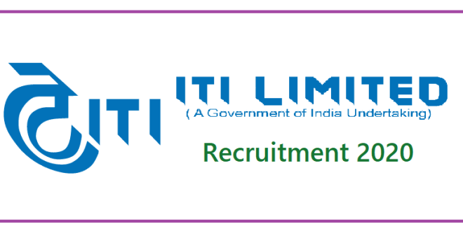 ITI Limited Jobs Recruitment 2020 for Various Posts