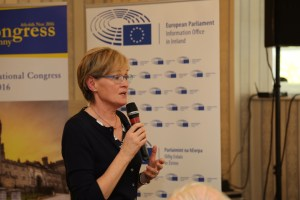 Mairead McGuinness MEP addressing Congress in Kilkenny