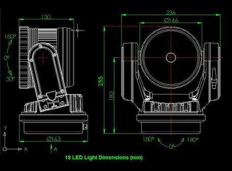 LED 40W Remote Control SEARCHLIGHT