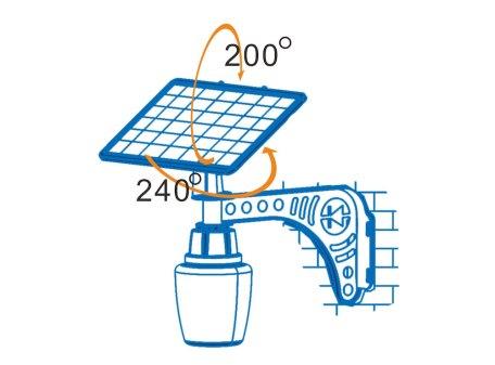 4W LED Solar Courtyard Light