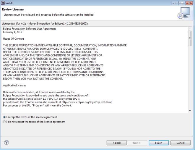 Accept maven plugin license