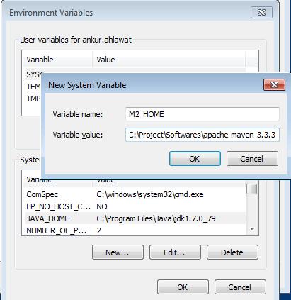 maven set environment variable