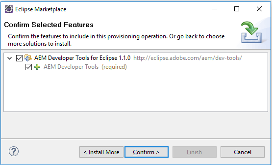 confirm aem plugin in eclipse