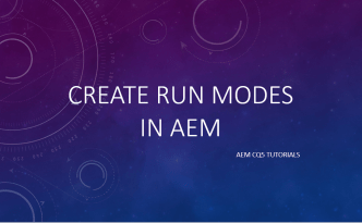 create run modes in aem