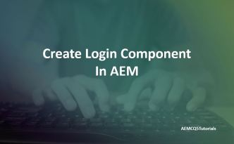 login component in aem sightly bootstrap