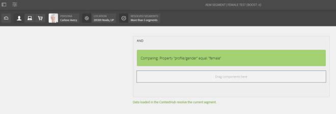 test-aem-segment-personalization