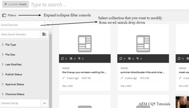 modify smart collection saved search
