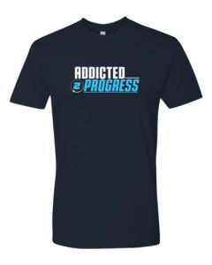 Addicted 2 Progress T Shirt Blue