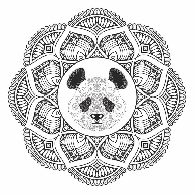 Adult Coloring Pages - Panda Designs [Free Printable Sheets]