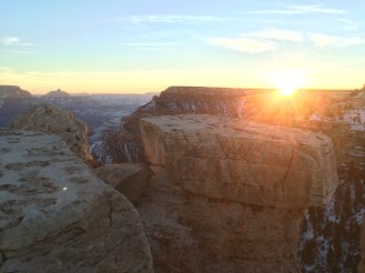 Sunrise at the Grand Canyon, January 5th 2015.