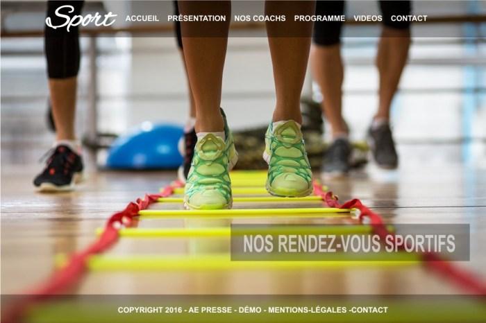 Site internet poour le sport Aurillac Saint-Flour