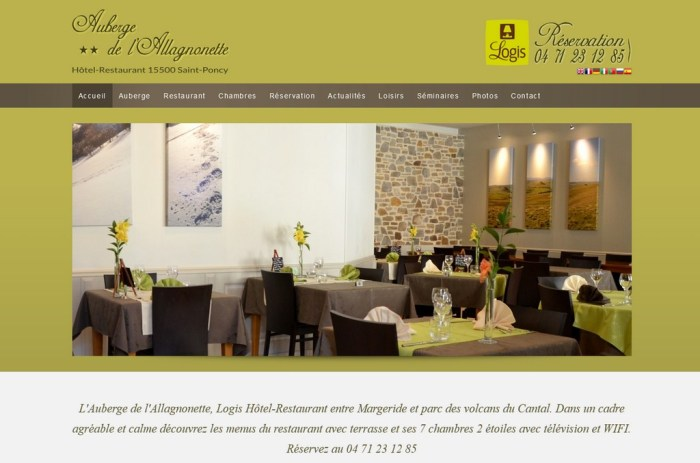 Création Réalisation de site internet Aurillac Auvergne