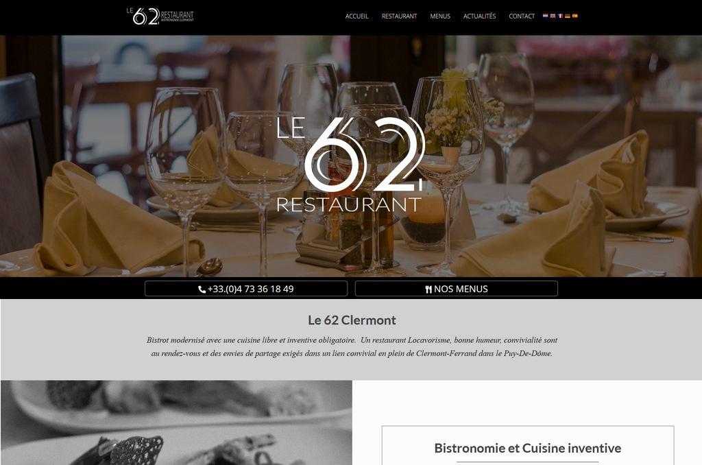 Site internet restaurant Clermont-Ferrand
