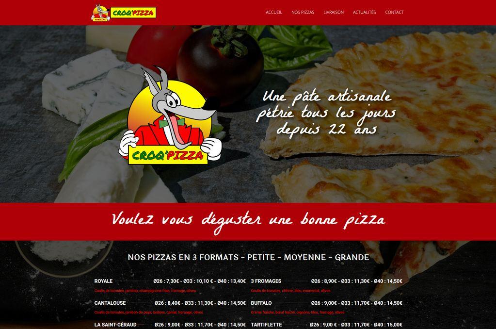 Création de site internet Pizzéria Aurilac