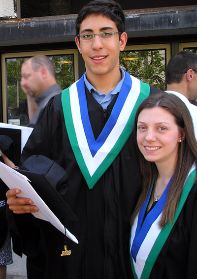 Alex And Erin at their graduation