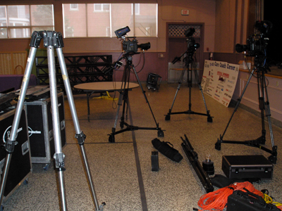 Cameras being set up