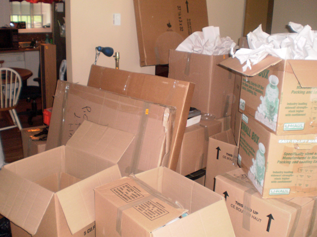 Boxes up to our eyebulbs ...