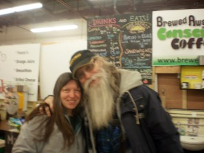 Cathi and Jim snapped together in the Northside Market, Fredericton, NB, 26 Octobre, 2013.