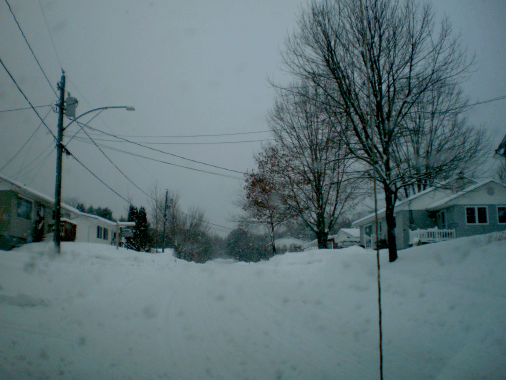 Wellington Court, Fredericton, NB on Tuesday, 29 December, 2015 after about 3 hours of snow falling today.