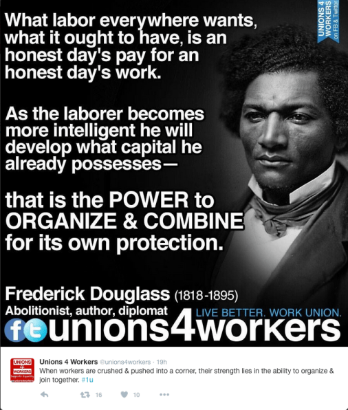 Frederick Douglass Pro-Union Quote.