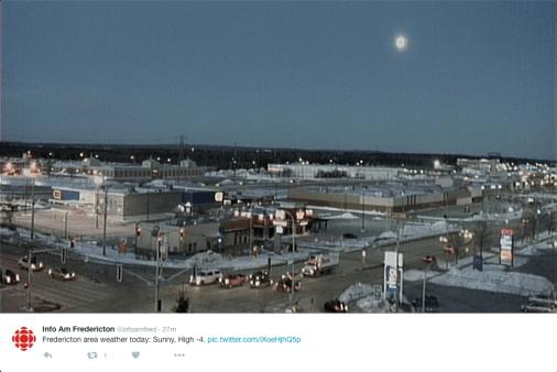 Moon over New Brunswick