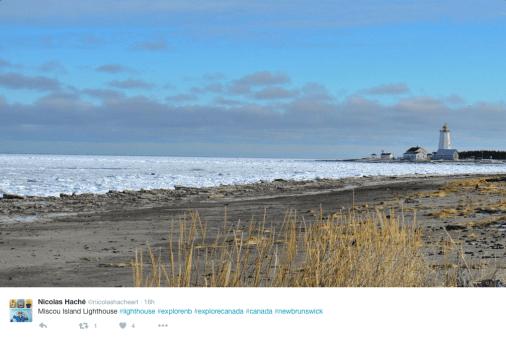 Miscou Island Lighthouse, beach and shoreline.