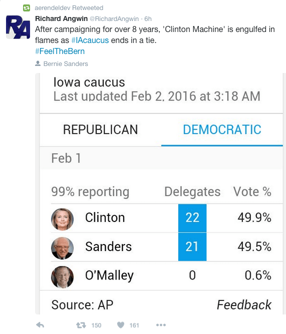 Caucus Results