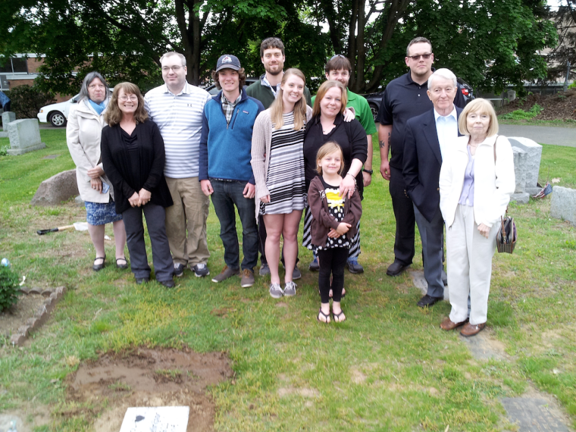 Family group in the cemetary.