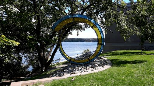 Spiralling art installaation.
