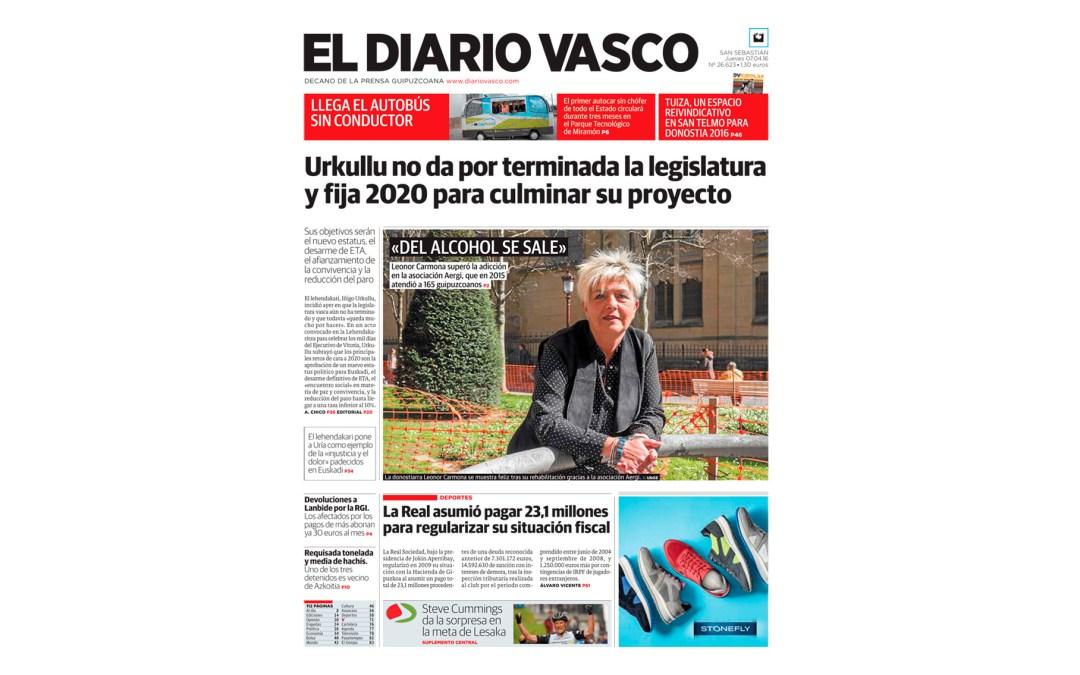 Leo y AERGI, protagonistas en portada de El Diario Vasco