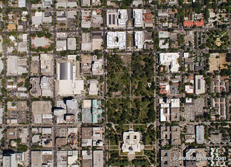Aerial Photo Maps and Satellite Imagery of Sacramento  CA aerialarchives com Sacramento aerial photo map  AHLB2855 jpg