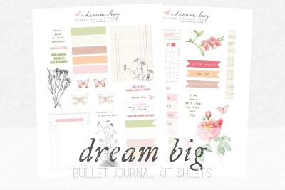dream big bullet journal kit