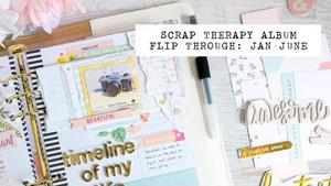 scrap therapy album: jan-june