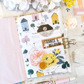 france + belgium 2020 travel journal setup