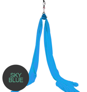 aerial silks sky blue