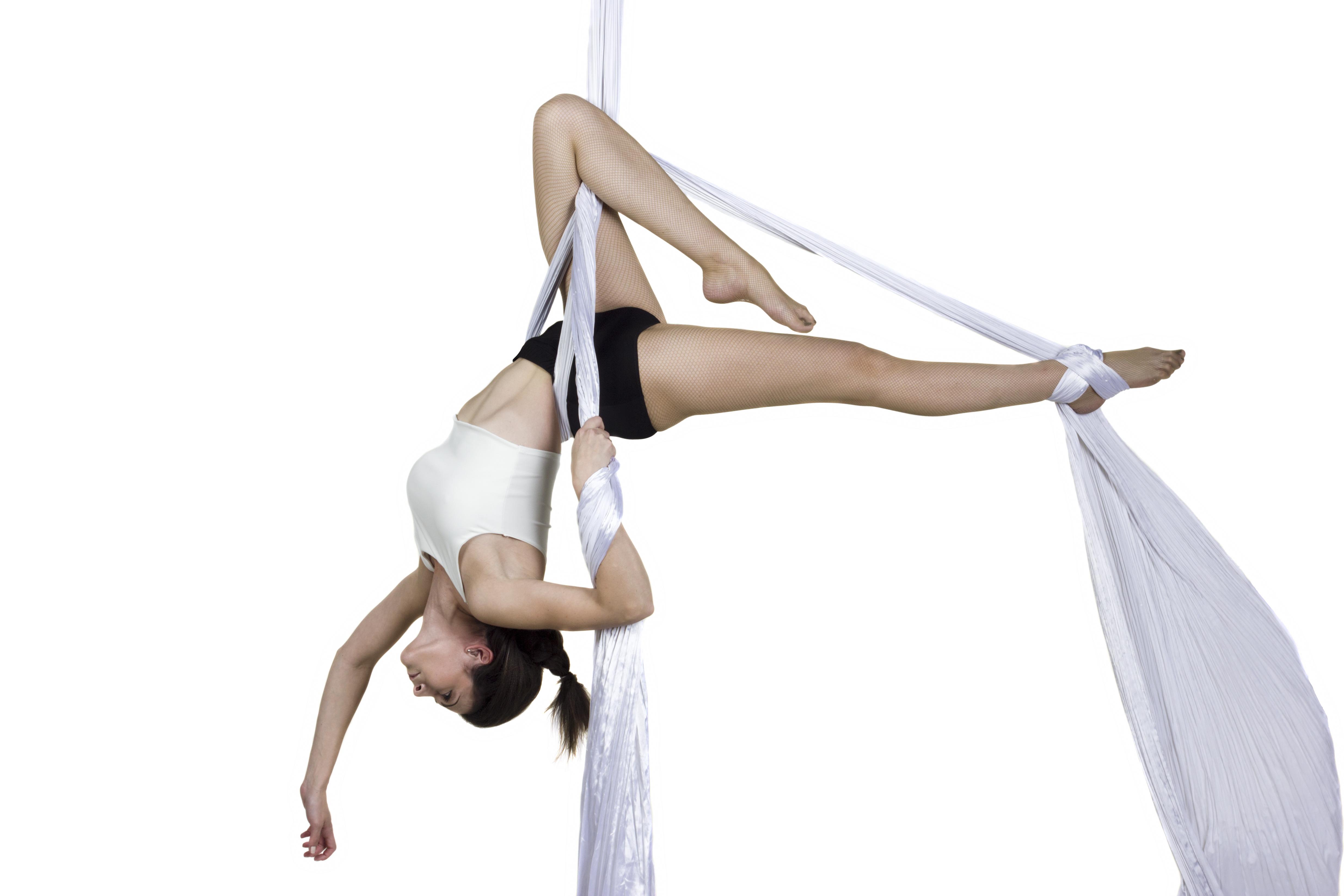 White Aerial Silks