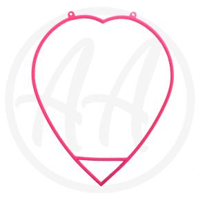 Pink Aerial Heart Hoop For Sale